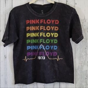 NEW PINK FLOYD 1973 Band Graphic Distressed T L